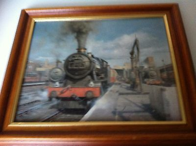 BEAUTIFUL PRINT PICTURE PAINTING TRAIN LOCOMOTIVE the cornishman 1004