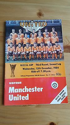 Dundee United V Manchester United 12.12. 1984 - UEFA Cup 3rd Round