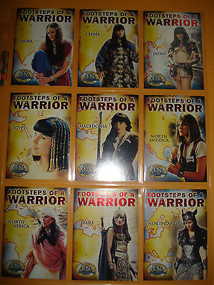 """Xena Beauty and Brawn """"Footsteps of a Warrior"""" 9 card set"""
