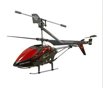 Hamleys RC Gyro Force Helicopter, Red and Black blades