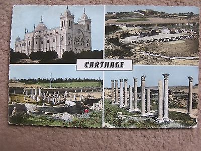 A posted 4 picture colour postcard of Carthage
