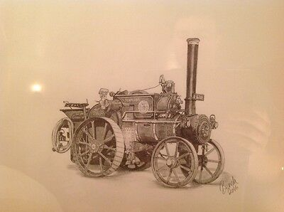 Wallis & Stevens 3tonne tractor traction engine drawing