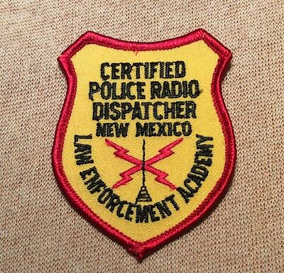 NM Certified PD Radio Dispatcher New Mexico Law Enforcement Academy Patch (3In)