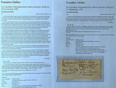 Revolutionary War President Washington/jefferson Patriot Document Signed 1783 !!