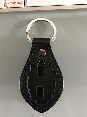 NYC Captian Leather Key Ring - NYPD Mini Badge Holder - NYPD