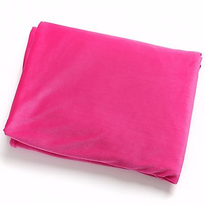 Large Pink Velvet Throw by Hill Interiors. Exceptional Quality 180x130cm NEW!