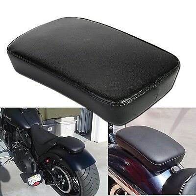 OSAN Leather Pillion Pad Suction Cup Rear Seat For Harley Custom Bikes