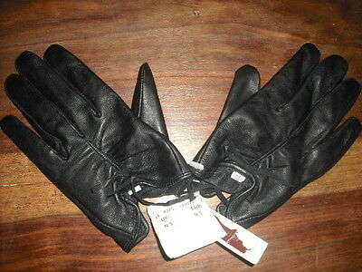 Cropped Black Leather Gloves Size Small BNWT