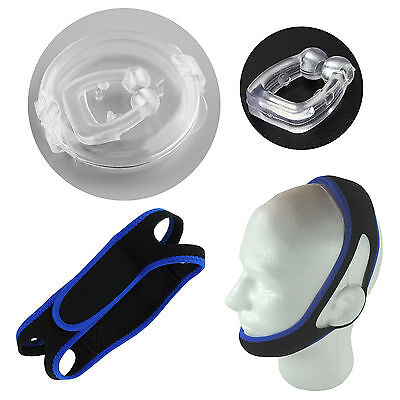 My Snore Solution# Anti Snoring Chin Strap Snore Belt + Magnet Anti Snoring Clip