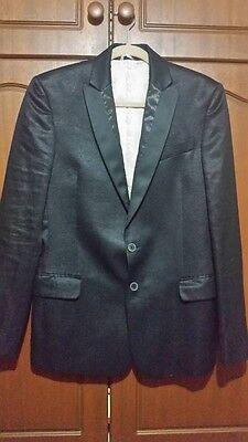 """Men's JUST CAVALLI Black Jacket in size 48 """"as new"""" condition"""