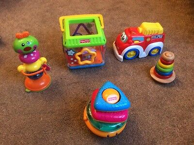 Mainly Fisher Price baby toys (5 seperate) suitable from birth - excellent cond