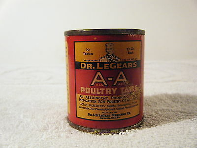 dr legears POULTRY TABS box veterinary medicine country store ADVERTISING (pt)