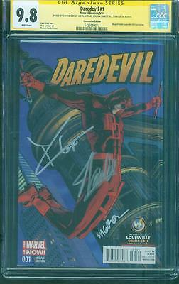 Daredevil 1 CGC 3X SS 9.8 Stan Lee Golden Charlie Cox Exclusive Con Variant