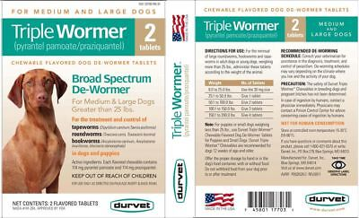 Durvet Triple Wormer 7 way dog puppy De-wormer