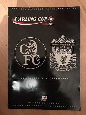 CHELSEA V LIVERPOOL 2005 Carling Cup Final PROGRAMME.