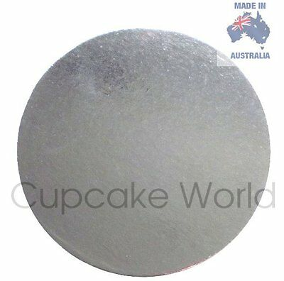"New! 7"" Pack Of 5Pc Silver Round Cardboard Cake Boards For Craft Cakes Cupcakes"