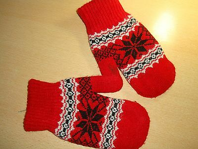 Pair childs Red  Mittens