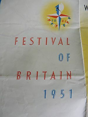 Festival of Britain 1951 – Pocket Sized Transport Map/Guide