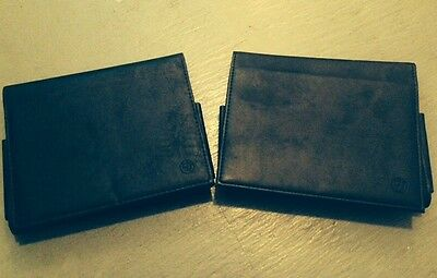 2 x Genuine BMW Leather Document Owners Manual Folder Wallet