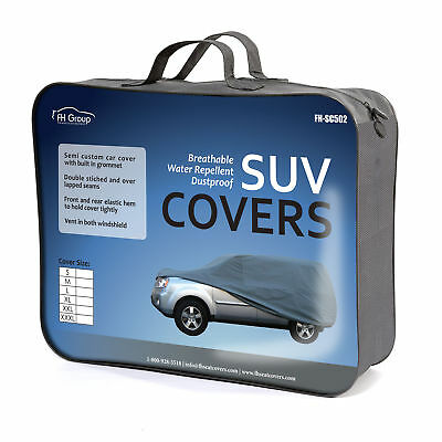 """SUV Car Cover Fits Cars Up to 220"""" Sun UV Snow Dust Rain Resistant Protection"""