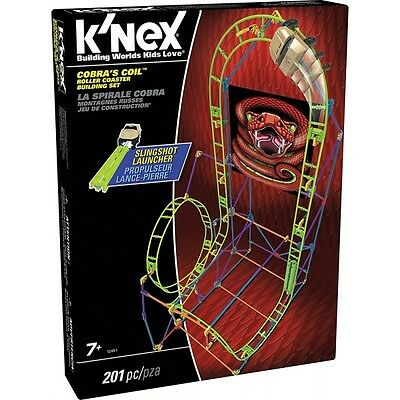 K'Nex Cobras Coil Roller Coaster Building Set Brand New