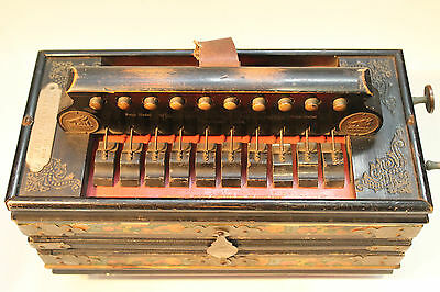 "Antique Campbell's Broad Reed Melodeon, model ""The Favourite"" in F/G Condition"