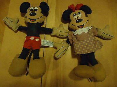 Vintage Mickey Minnie  Mouse Rag Doll by Walt Disney Productions