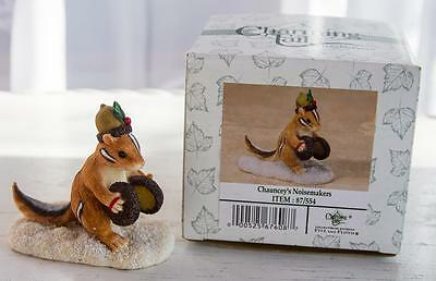 Charming Tails Chauncey's Noisemakers Marching Chipmunk #87/554 Fitz/Floyd Box
