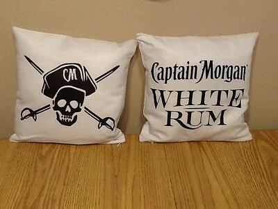 NEW Lot of 2 Captain Morgan White Rum Pillows