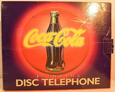 1995 Coca-Cola Coke Disc Telephone with Original Box and Cords, Works Great