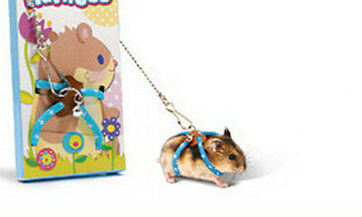 Adjustable Harness Leash Hamster Pet Mouse Squirrel Sugar Glider Small Animal
