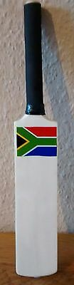 "Hand Carved Modern Big Profile South African Flag Mini Cricket Bat,Size 12"" @ £4"