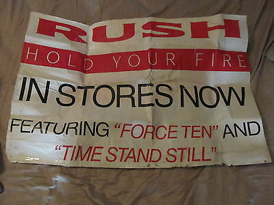 Rush Hold Your Fire In Stores Now Promo Poster Billboard Ad 1987 Rare Nyc