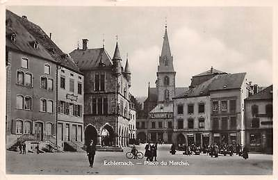 ECHTERNACH, LUXEMBOURG ~ PLACE DU MARCHE, PEOPLE, REAL PHOTO PC ~ used 1931