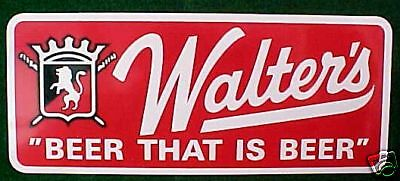 Old Walter's Beer Bumper Sticker- Eau Claire, Wisconsin
