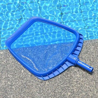 Professional Blue Square Leaf Rake Mesh Net Skimmer Swimming Pool Cleaning Tool