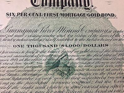 1904 Guanajuato River Mining Company 1st Mortgage Gold Bond Stock With Stamps