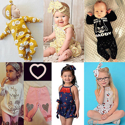 Cute Toddler Infant Kids Baby Boys Girls Romper Jumpsuit Bodysuit Clothes Outfit