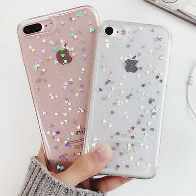 Luxury Bling Glitter Slim Soft TPU Silicone Case Cover For iPhone X 6s 7 8 Plus