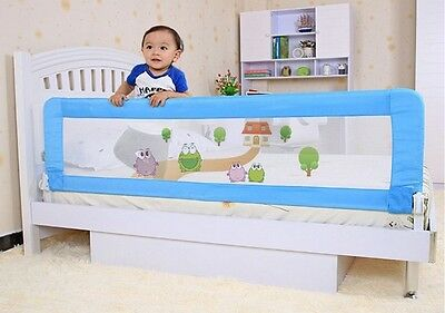 2pc 150cm BLUE Safety Bed Rail Protection Child toddler Kids AU