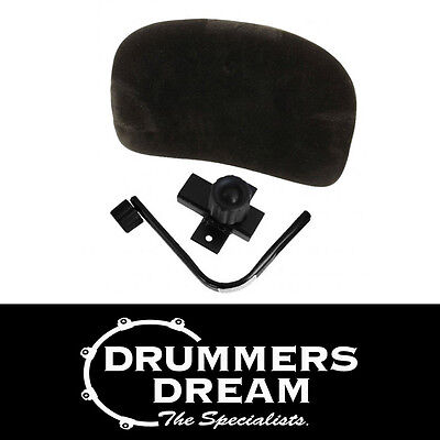 ROC-N-SOC Drum Throne Back Rest Black Cloth Covered Seat Panel RRP $179.00