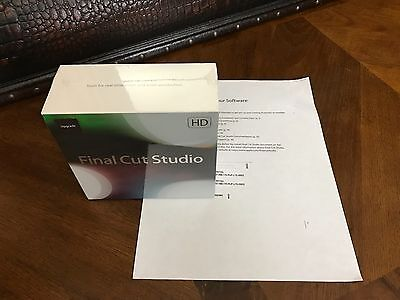 Brand New Sealed Apple Final Cut Studio 3 Hd With Pro 7 Full Retail Package
