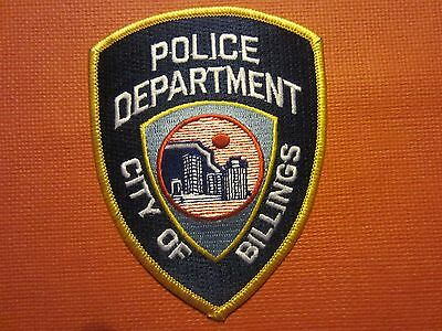 Collectible Montana Police Patch Billings New