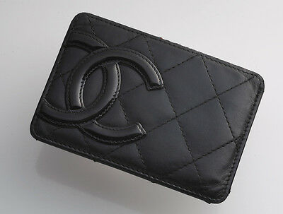 G6746M Authentic CHANEL Cambon Genuine Leather Card Case