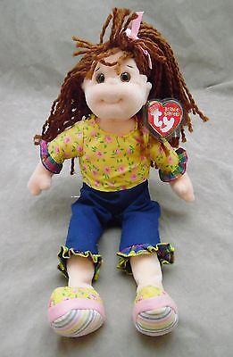 Ty Beanie Boppers Plush Doll Lovable Lulu Blue Floral Retired 2001 NWT