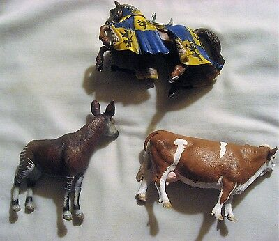 Two Schleich 4.75 Inch Animals - 2006 Deer? And 2008 Cow