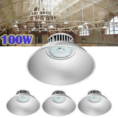 4X 100W LED High Bay Light Lamp Factory Warehouse Industrial Shed Roof Lighting