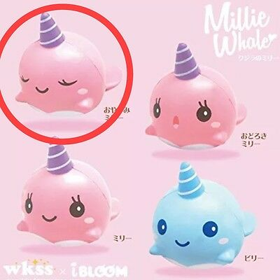 iBloom Jumbo Size Millie The Whale (Sleeping Face) Rare Licensed  Squishy