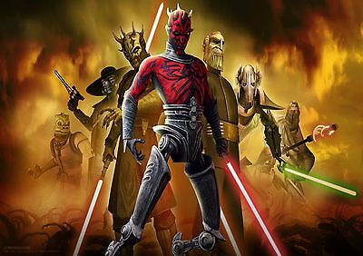Star Wars The Clone Wars - A4 Glossy Poster -TV Film Movie Free Shipping #160