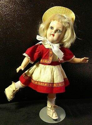 Vintage IDEAL Toni doll P-91 in original ice skating outfit tag missing